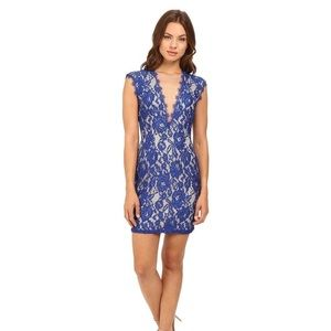 Aidan Mattox - Floral Lace Short Dress